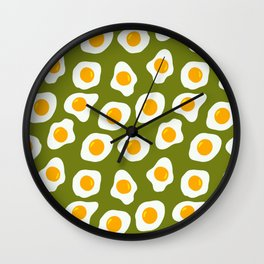 Eggs Pattern (Spring Green Color Background) Wall Clock
