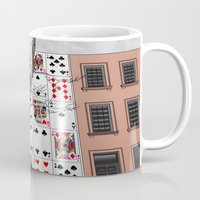 house of cards Mugs featuring House of Cards by AdamSteve