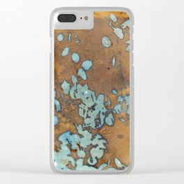 Copper Raindrops Clear iPhone Case
