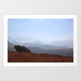 Hike to Lesotho - Southern Drakensberg Art Print