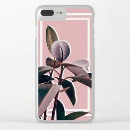 Ficus Portrait Clear iPhone Case