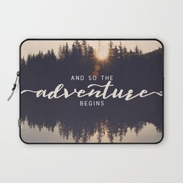 And So the Adventure Begins II Laptop Sleeve