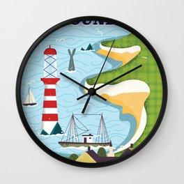 Newfoundland canada vintage travel poster Wall Clock
