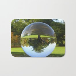 Old Park Tree, crystal ball / Glass Ball Photography Bath Mat