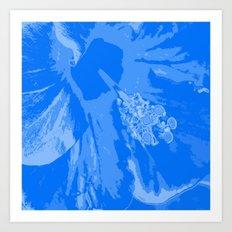 Intimate blue Art Print