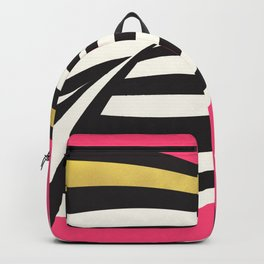 LOVE! – Wavy Stripes on Rich Pink Backpack