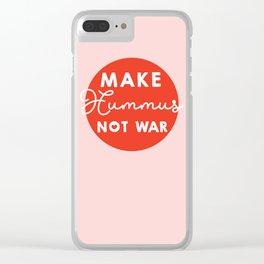 Make hummus not war Clear iPhone Case