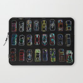 Neon Toy Cars Laptop Sleeve