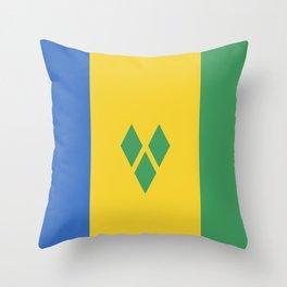 Saint Vincent and the Grenadines flag emblem Throw Pillow
