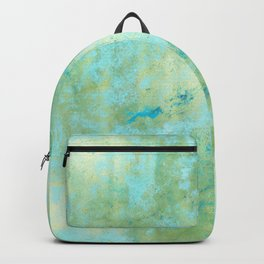 Blue & Gold Abstract Marble Backpack