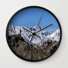 Mt Whitney And The Alabama Hills  2-23-19 Wall Clock