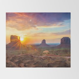 Monument Valley Throw Blanket