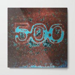 Rusty Vintage Salvage 500 Metal Print