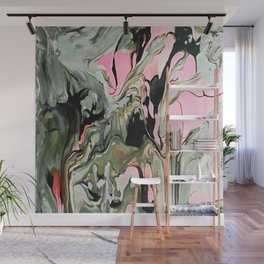 Dream in Greige and Pink Wall Mural
