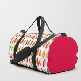 Mid-Century Modern Leaves Pattern Collection 1 Duffle Bag