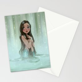 Waterfall Mermaid Stationery Cards
