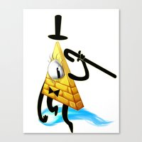 bill cipher Canvas Prints featuring Bill Cipher by Draikinator