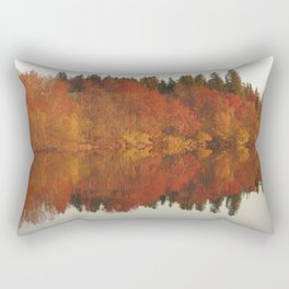 Colorful autumn trees reflection in the lake Rectangular Pillow