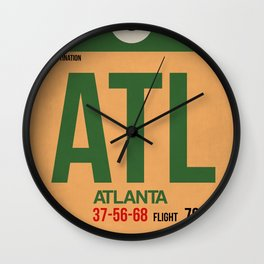 ATL Atlanta Luggage Tag 1 Wall Clock