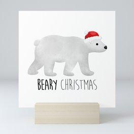 Beary Christmas | Polar Bear Mini Art Print