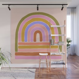 rainbow : of the heart Wall Mural