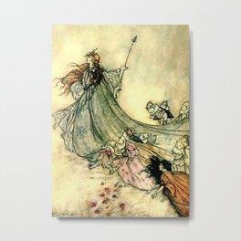 """""""Queen of the Fairies"""" by Arthur Rackham Midsummer's Night Metal Print"""