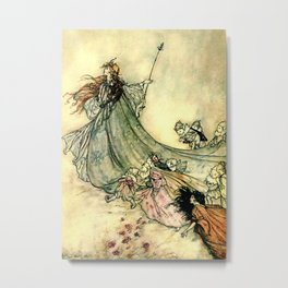 """Queen of the Fairies"" by Arthur Rackham Midsummer's Night Metal Print"