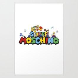 Super Mario Bros Moschino Art Print