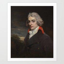 John Hoppner, R.A. LONDON 1758 - 1810 PORTRAIT OF SIR JOHN OSBORN, BT (1772–1848), OF CHICKSANDS PRI Art Print
