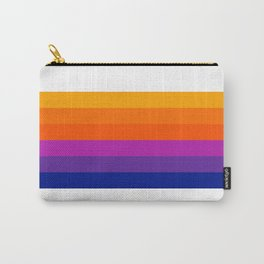 Bright Rainbow / Straight Carry-All Pouch