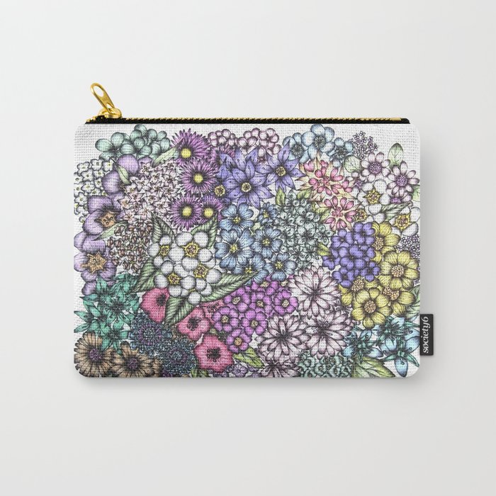 A Bevy of Blossoms Carry-All Pouch