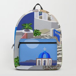 Santorini Cupolas #18 Backpack
