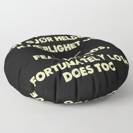 SKAM - Fear spreads, but fortunately love does too. Floor Pillow