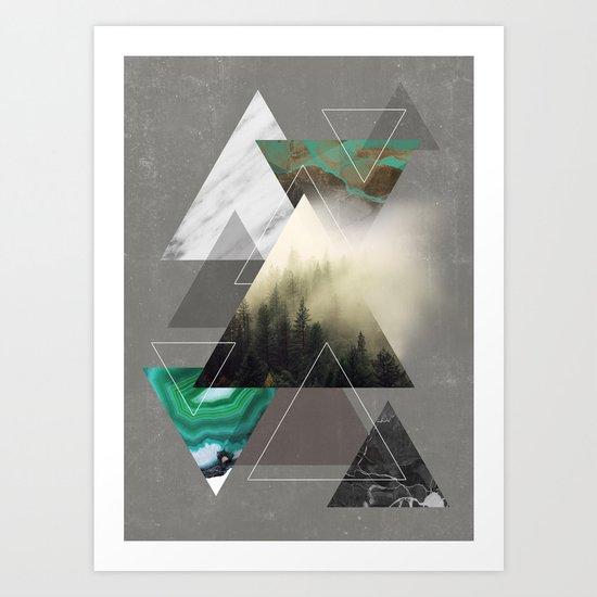 Triangles Symphony Art Print