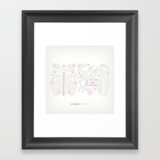 Hungarian Embroidery no.12 Framed Art Print