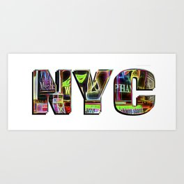NYC (typography) Art Print