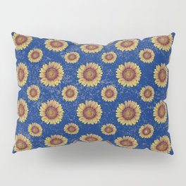 Swirly Sunflower Pillow Sham