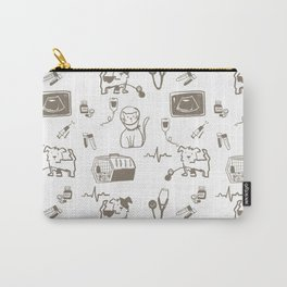 Dr Fluffton's Medicine day Grey and White Carry-All Pouch