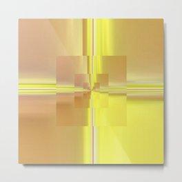 Yellow Glass Metal Print