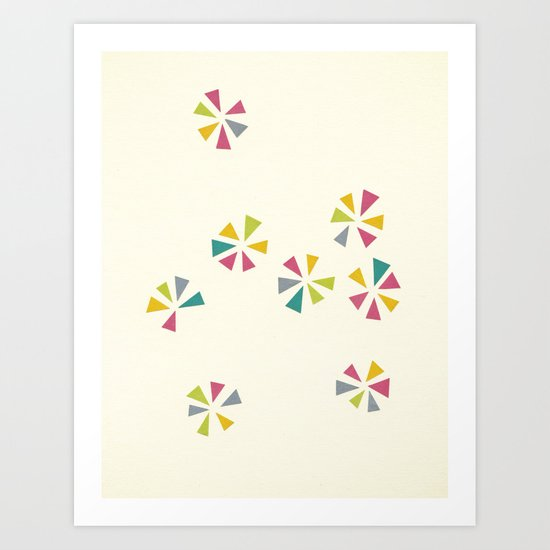 Colour Wheels Art Print