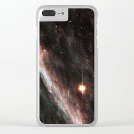 Pencil Nebula Clear iPhone Case