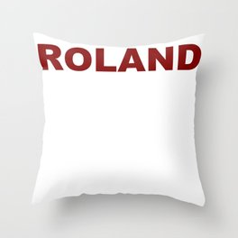 ROLAND  (A7 B0077) Throw Pillow