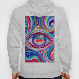 """Eye love you too"" by Audreana Cary & Adam France Hoody"