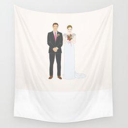This $75 Custom Portrait Is the Most Thoughtful Wedding Gift Ever Wall Tapestry