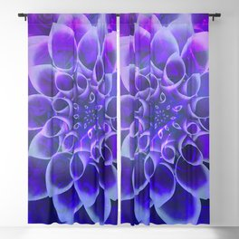 Mindfulness Purple-Pink and Blue Abstract Flower Blackout Curtain