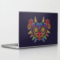 majora Laptop & iPad Skins featuring El Dia de la Majora by Marco Mottura - Mdk7