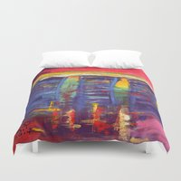 singapore Duvet Covers featuring Bayfront Singapore by Kasia Pawlak