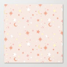 Twinkle Twinkle - Peach Canvas Print