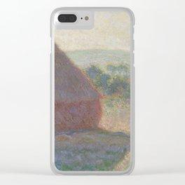 Meules, milieu du jour [Haystacks, midday] Clear iPhone Case