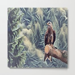 The Red Tail Hawk Metal Print